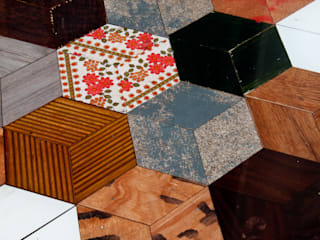 tavolo esagoni:  in stile  di Laboratorio Controprogetto snc
