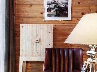 Rustic style study/office by Архитектор Татьяна Стащук Rustic