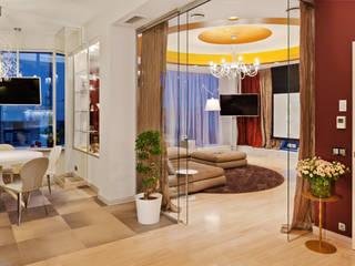 Квартира на Петровском острове в Санкт-Петербурге Гостиные в эклектичном стиле от Format A5 Fontanka Эклектичный