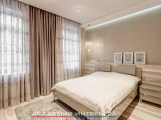 """ЖК """"Берег"""" (квартира площадью 114,5 кв. м.): Спальни в . Автор – Светлана ковальчук Дизайн студия 'Академия Интерьера'"""