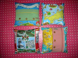 Souvenir cushions: eclectic  by Random Makes, Eclectic