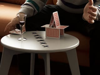 STITCHED  coffee table_warm gray lacquered_lead string:  in stile  di metrocuadro-design
