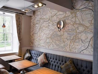 Bespoke map wallcoverings Tektura Wallcoverings Landelijke gastronomie