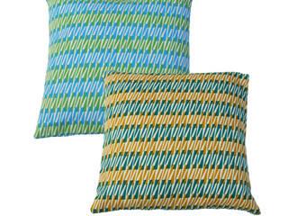 "Hand Printed British Woven 18"" Cushions:   by Sarah Waterhouse"