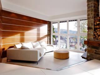 Wohnen mit Natur und Sonne gmyrekarchitekten Moderne Wohnzimmer