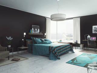 Modern Blue vue 1: Chambre de style  par Studio Artere