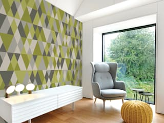 Digitally printed bespoke wallcoverings and window graphics: modern  by Tektura Wallcoverings, Modern