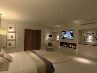 Contemporary home in England : modern Bedroom by Sarah Ward Associates