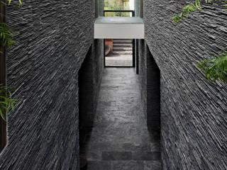 Corridor & hallway by Studiozwart Architecten BNA, Modern