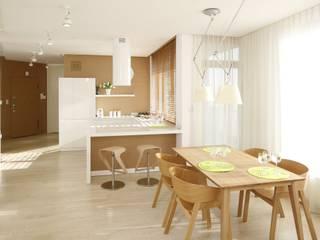 Mieszkanie Nowoczesna jadalnia od Bm2 pracownia architektury Nowoczesny