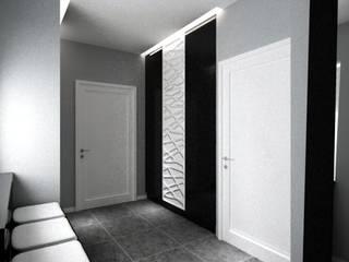 wiatrołap w domu Nowoczesny korytarz, przedpokój i schody od ZAWICKA-ID Projektowanie wnętrz Nowoczesny