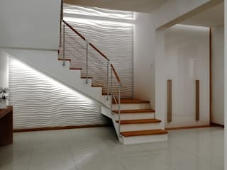 Dom pod Warszawą Nowoczesny korytarz, przedpokój i schody od ZAWICKA-ID Projektowanie wnętrz Nowoczesny
