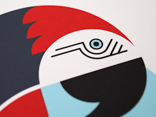 Parrot Screen Print:   by The Lost Fox