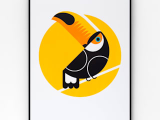Toucan Screen print:   by The Lost Fox