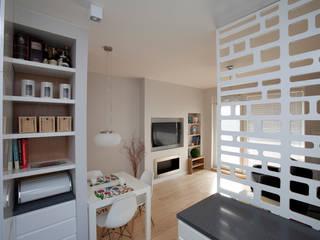 Mieszkanie dla Pani Doktor Skandynawski salon od ZAWICKA-ID Projektowanie wnętrz Skandynawski