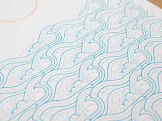 Waves A2 screen print:   by The Lost Fox
