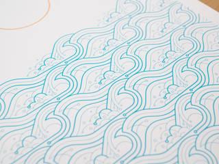 Waves A2 screen print: modern  by The Lost Fox, Modern