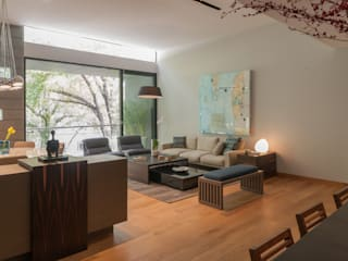 Living room by Faci Leboreiro Arquitectura