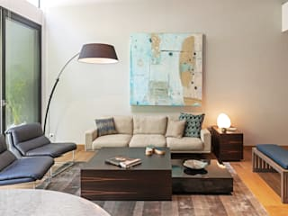 Nowoczesny salon od Faci Leboreiro Arquitectura Nowoczesny
