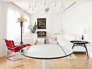 apartamento Cidade Jardim Salas de estar ecléticas por korman arquitetos Eclético