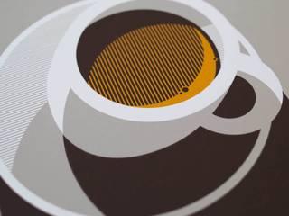 Espresso screen print: modern  by The Lost Fox, Modern