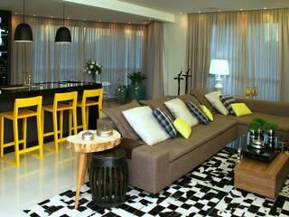 Projeto de Interior Área Social Apartamento Salas de estar modernas por Kubbo Arquitetos Moderno