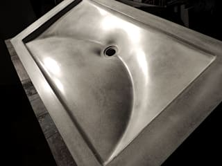 Crescent Wave Concrete Sink :   by Forma Studios