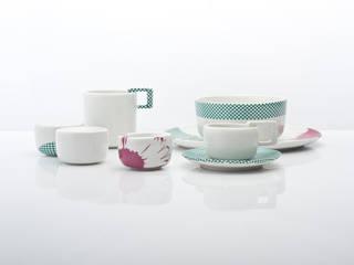 Single set - mops zielony: styl , w kategorii  zaprojektowany przez mopsdesign