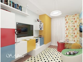 Nursery/kid's room by студия авторского дизайна  Альбины Сибагатулиной