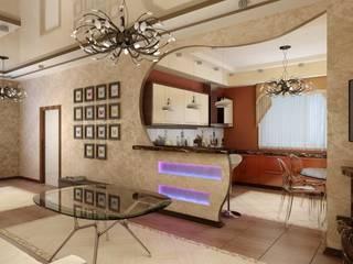Современная кухня с барной стойкой Кухня в стиле модерн от Цунёв_Дизайн. Студия интерьерных решений. Модерн