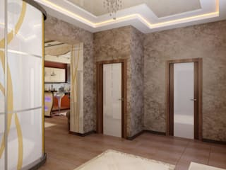 Modern corridor, hallway & stairs by Цунёв_Дизайн. Студия интерьерных решений. Modern