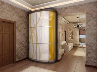 現代風玄關、走廊與階梯 根據 Цунёв_Дизайн. Студия интерьерных решений. 現代風