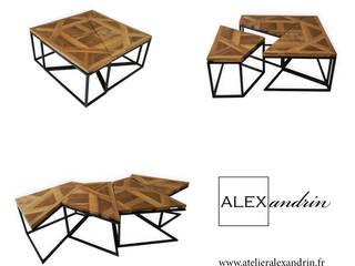 Table carré cube:  de style  par Atelier Alexandrin