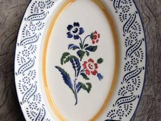 ovalen serveerschaal :   door Burra Burra