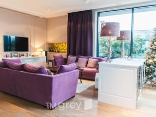 NY Style Apartment Klasyczny salon od TiM Grey Interior Design Klasyczny