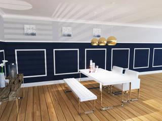 Visualisierung- Klassisch modernes Esszimmer: modern  von INSIDE tp,Modern