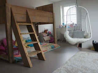 Kinderkamer met een gietvloer. :  Kinderkamer door Design Gietvloer