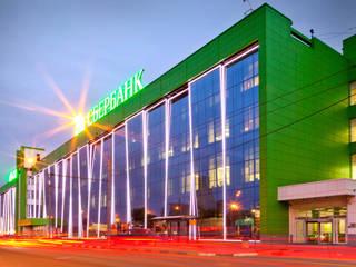 Фасад со стороны Волгоградки: Офисные помещения в . Автор – SpacePlace