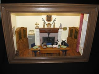 Salle de réunion miniature:  de style  par mini-vitrines