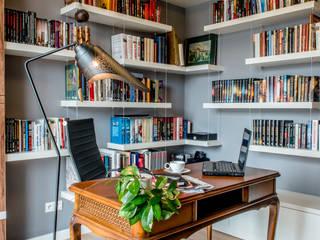 Modern Apartment - 100m2 Nowoczesne domowe biuro i gabinet od TiM Grey Interior Design Nowoczesny