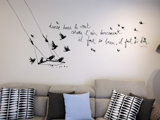 decorazione parete divano di Laura Canonico Architetto Eclettico