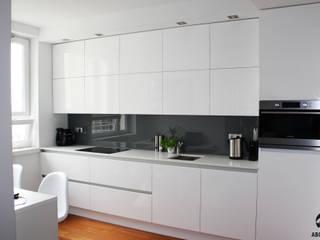 Warszawa Śródmieście Apartament Gdański od ABC kuchnie Minimalistyczny