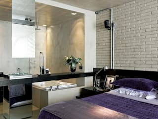 Industrial style bedroom by DIEGO REVOLLO ARQUITETURA S/S LTDA. Industrial