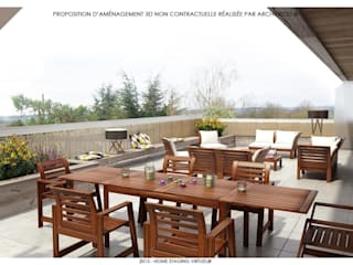 ArchiDeco Balconies, verandas & terraces Furniture
