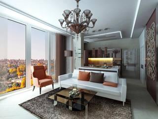 Квартира в жилом комплексе Гостиная в классическом стиле от Studio Design-rise Классический