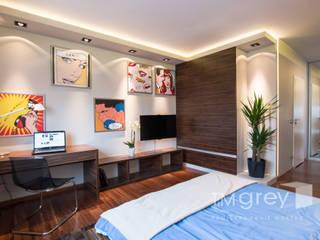 Modern Flat 69m2 Nowoczesna sypialnia od TiM Grey Interior Design Nowoczesny