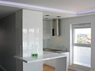 Realizacja Apartament Preludium od ABC kuchnie Minimalistyczny