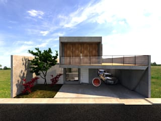 Residência KF Garagens e edículas modernas por Ateliê São Paulo Arquitetura Moderno
