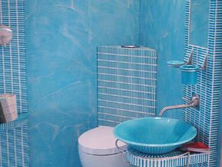 Superfici continue ecocompatibili: Bagno in stile in stile Tropicale di progresurface