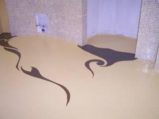 Superfici continue ecocompatibili: Bagno in stile in stile Moderno di progresurface